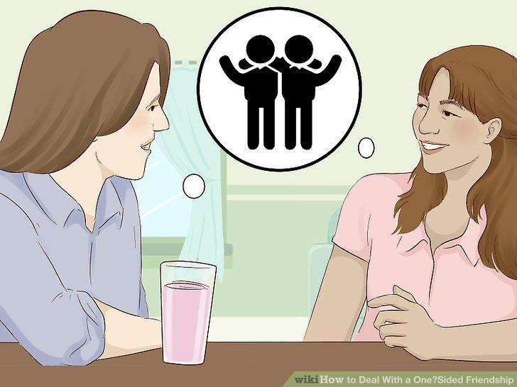 Fragen Sie Freunde oder Familienmitglieder, wenn sie der Meinung sind, dass die Freundschaft einseitig ist.