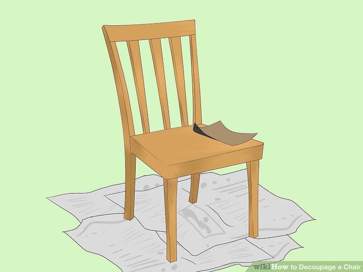 Sand den Stuhl ab.