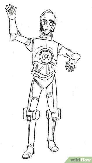 How to Draw C‐3PO from Star Wars: 8 Steps (with Pictures)