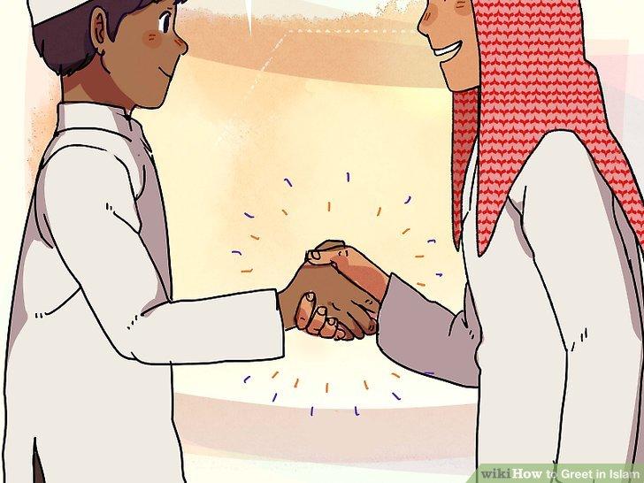 Geben Sie den männlichen Muslimen die Hand, wenn Sie männlich sind.