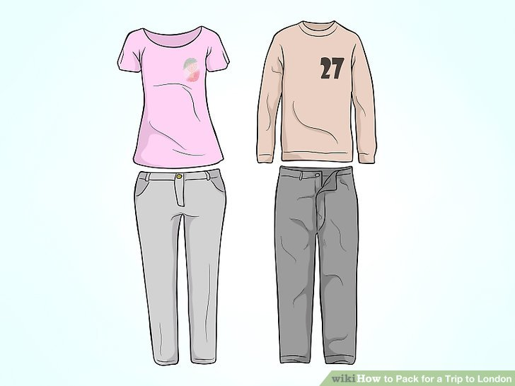 Begrenzen Sie die Kleidungsfarben für einen Mix-and-Match Kleiderschrank.