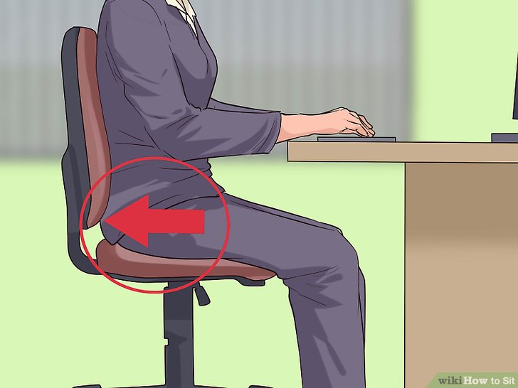 good posture chair office stressless creaking how to sit 12 steps with pictures wikihow using proper image titled step 1