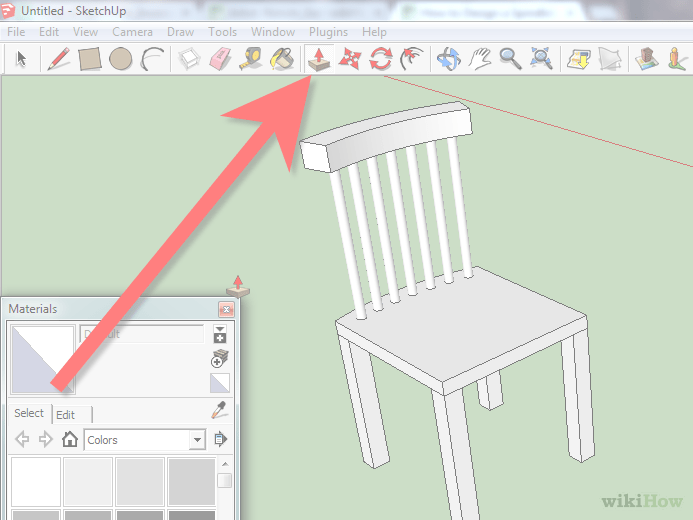 chair design sketchup used massage for sale how to a spindleback using with pictures image titled step 20 png