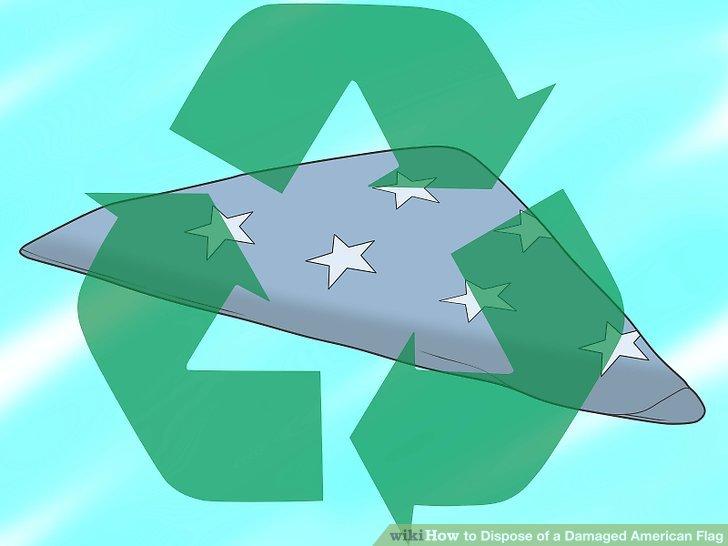 Betrachten Sie das Recycling von synthetischen Flaggen.