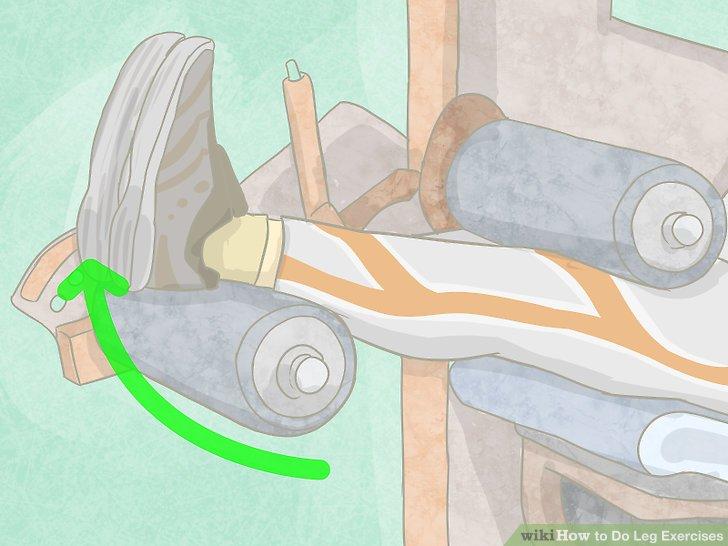 Verwenden Sie Fitnessgeräte, um Ihre Beine zu trainieren.