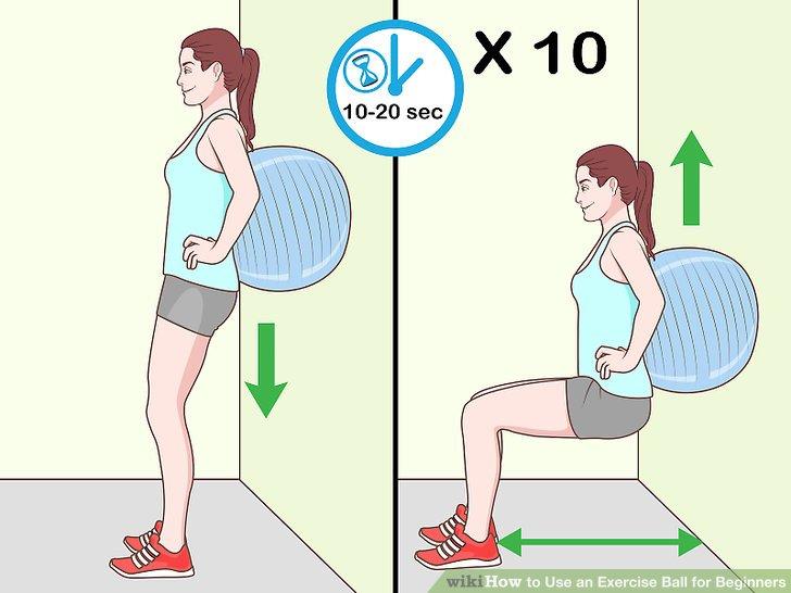 Perform a wall squat.