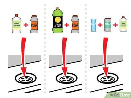 clear a clogged drain with vinegar