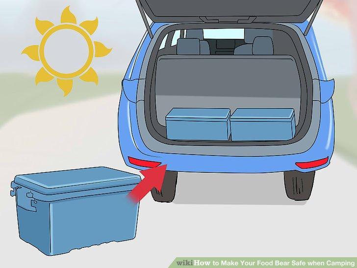 Bewahren Sie Ihre Lebensmittel tagsüber im Auto auf.