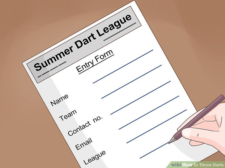 Join a darts league.