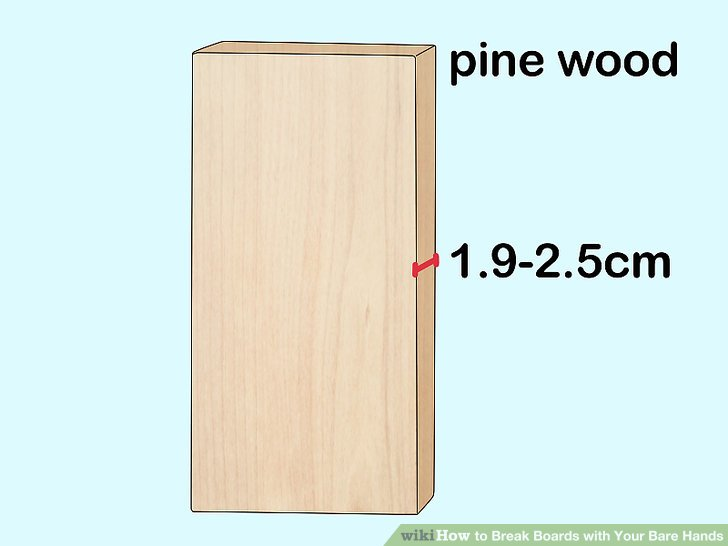 Verwenden Sie Bretter aus Kiefernholz ohne Knoten.