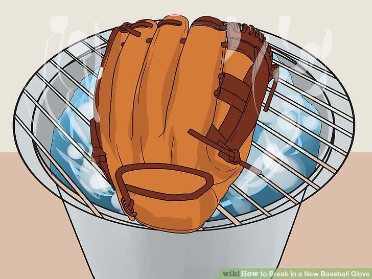 Legen Sie den Handschuh über einem Topf mit Wasser auf ein Gestell und schalten Sie den Brenner ein.