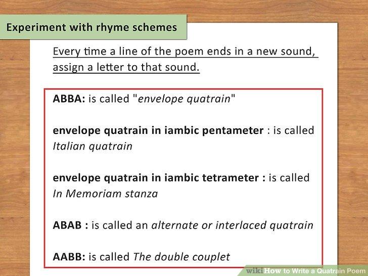 How To? - How to Write a Quatrain Poem