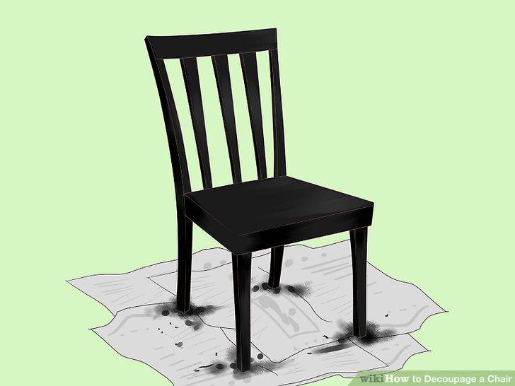 Malen Sie den Stuhl.