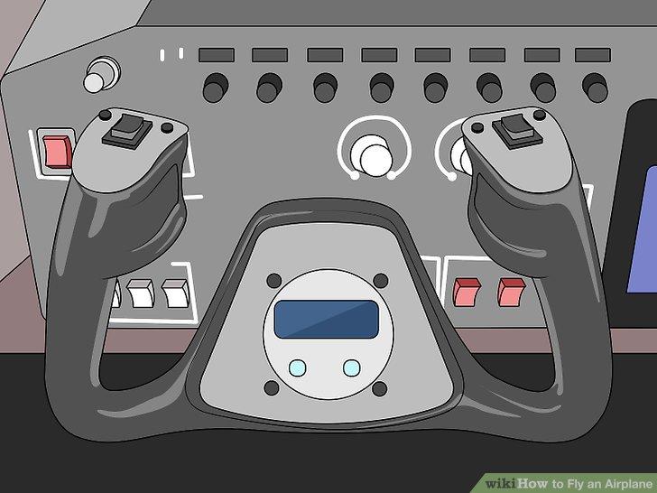 Suchen Sie die Flugsteuerung (Säule) im Cockpit.