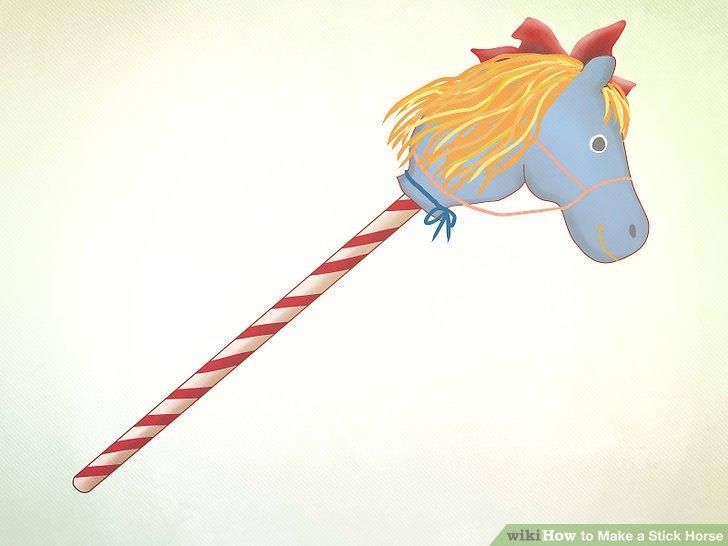 Verleihen Sie Ihrem Spielzeug einen letzten Schliff, z. B. Zügel aus Bändern, falls gewünscht.