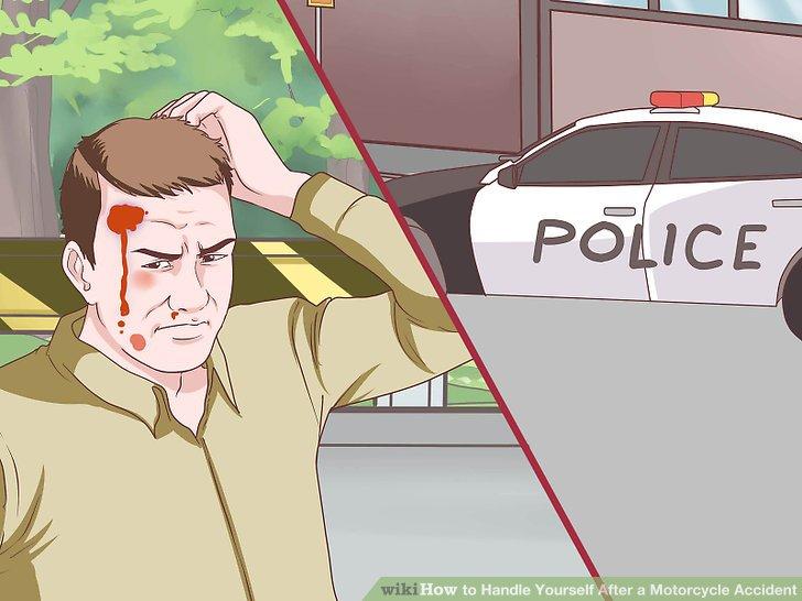 Melden Sie den Unfall der örtlichen Strafverfolgung.
