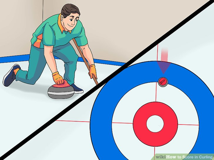 Aim for the target in the center of the ice.