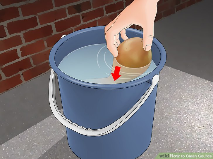 Soak the gourd in water for 30 minutes.