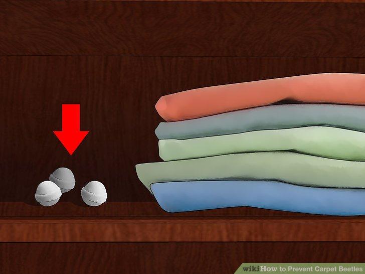 Bewahren Sie Kleidung und Stoffe mit Harzstreifen oder Mottenschutzmittel auf.