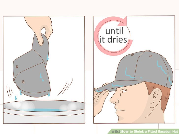Put on the hat and wear it until it dries.