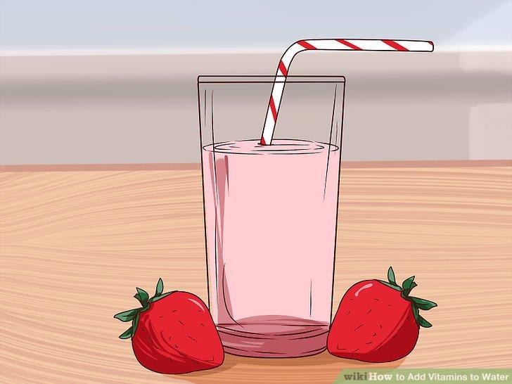 Wie ist es gemacht? - Hinzufügen Vitamine Wasser