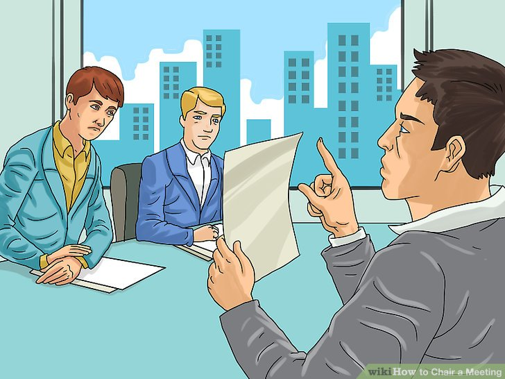 what is a chairperson in meeting chair covers for rent how to with pictures wikihow image titled step 11