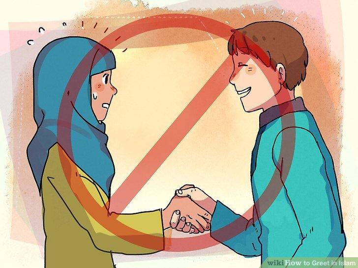 Schütteln Sie weiblichen Muslimen nicht die Hand, wenn Sie männlich sind.
