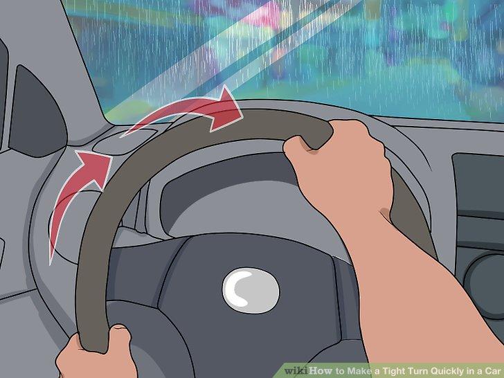 Drehe dein Rad in die Kurve.