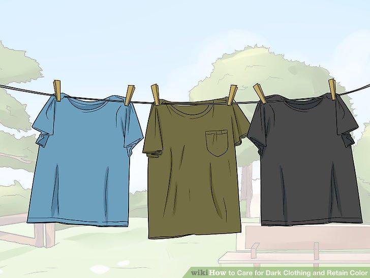 Trockne deine Kleider auf.