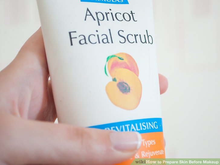 Purchase a gentle exfoliating scrub that features small granular particles such as sand or sugar.