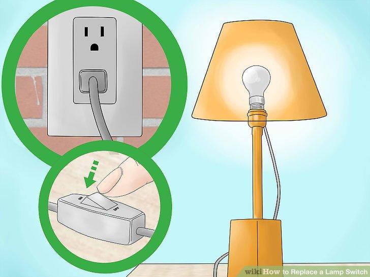 Stecken Sie Ihre Lampe ein und testen Sie Ihren neuen Schalter.