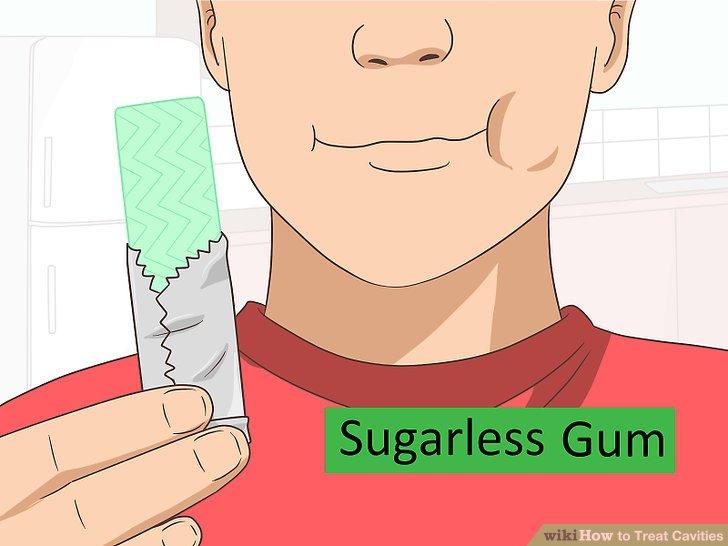 Kauen Sie zuckerfreien Kaugummi.