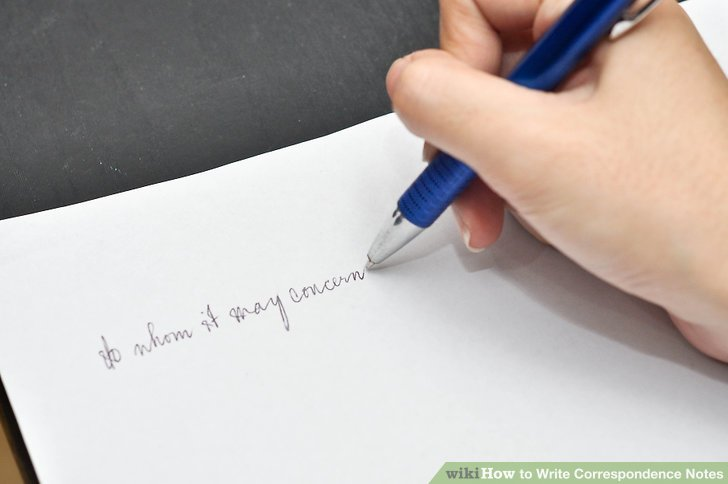 How to Write Correspondence Notes 5 Steps with Pictures