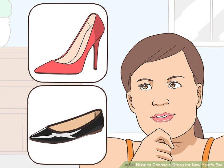 Wählen Sie Schuhe, die der Farbe und Länge Ihres Kleides entsprechen.