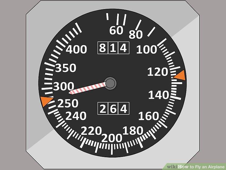 Verwalten Sie die Geschwindigkeit des Flugzeugs.