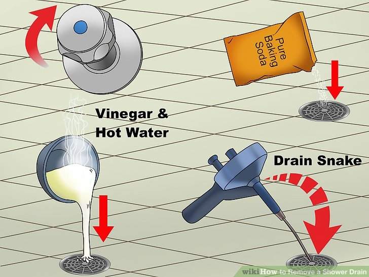 How to Remove a Shower Drain: 12 Steps (with Pictures