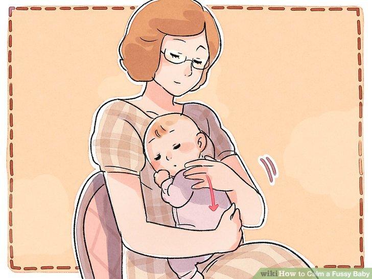Beruhige dein Baby mit sanften Bewegungen.