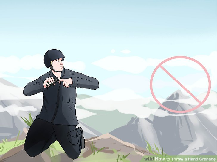 Avoid throwing grenades up stairs or hills.
