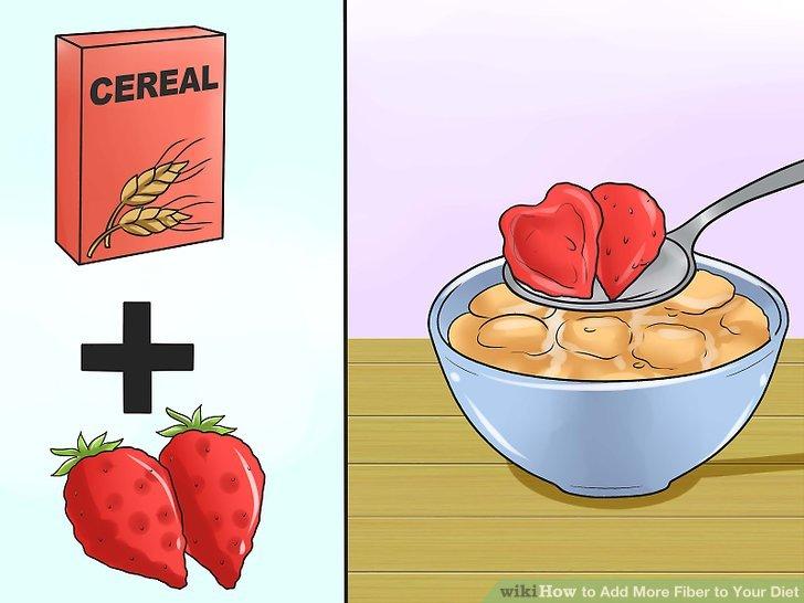 Kochen oder bereiten Sie Speisen und Rezepte mit ballaststoffreichen Zutaten zu.