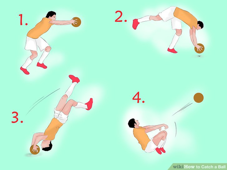 Try your hand at the difficult handspring throw.