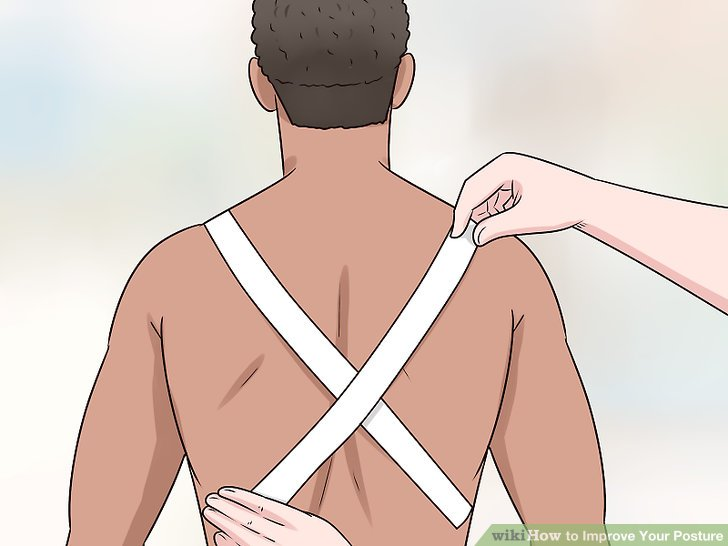 Have someone tape an X on your back to help correct your posture.