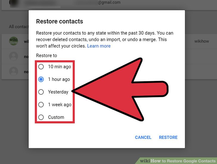 3 Ways to Restore Google Contacts  wikiHow