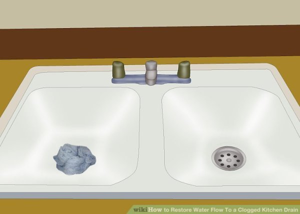 How to Restore Water Flow To a Clogged Kitchen Drain 15 Steps