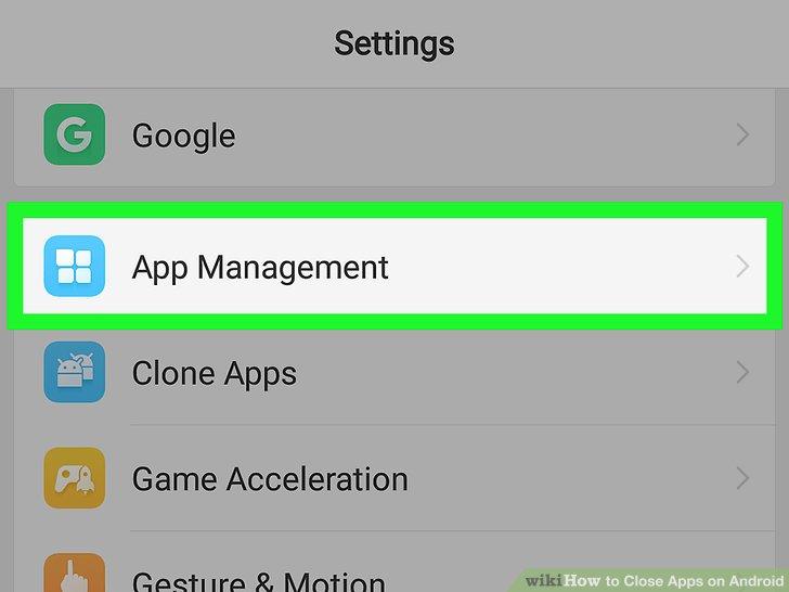 Wählen Sie eine App aus.