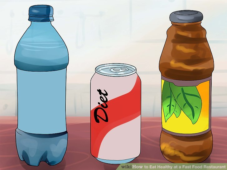 Pick low-calorie drink options.