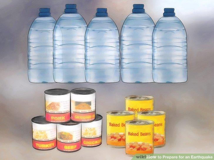 Kaufen Sie für mindestens drei Tage ausreichend Notfutter und Wasser.