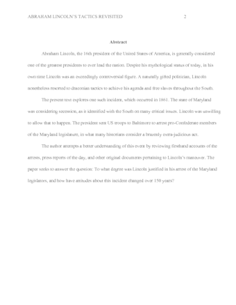 Sample Essay Abstract Scientific Essay Sample Essay Abstract