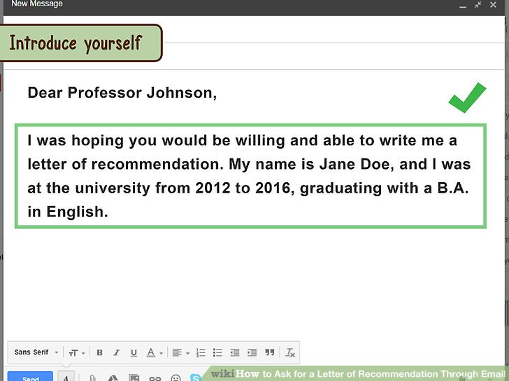 how to remind professor about letter of recommendation