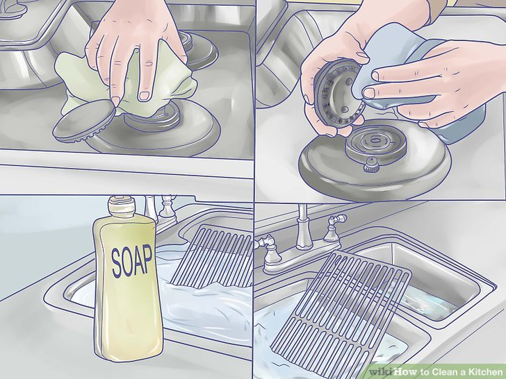 kitchen cleaning curtains blue how to clean a with pictures wikihow image titled step 1