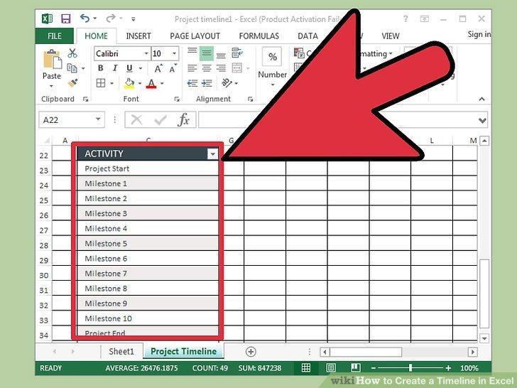 Wie ist es gemacht? - So Erstellen Sie eine Zeitleiste in Excel